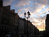 parisian sunset in the marais
