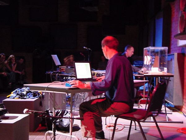 ron kuivila and ed tomney perform