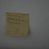 post it note left on the wall for years