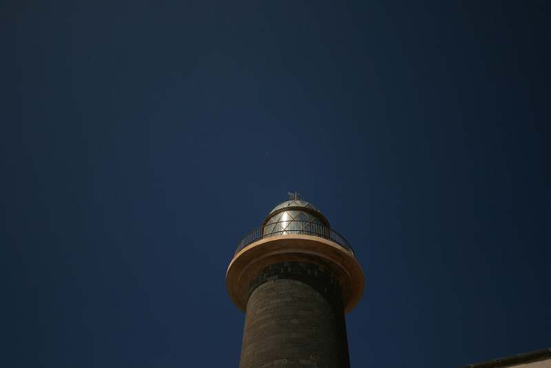 lighthouse at the southern tip of fuerteventura