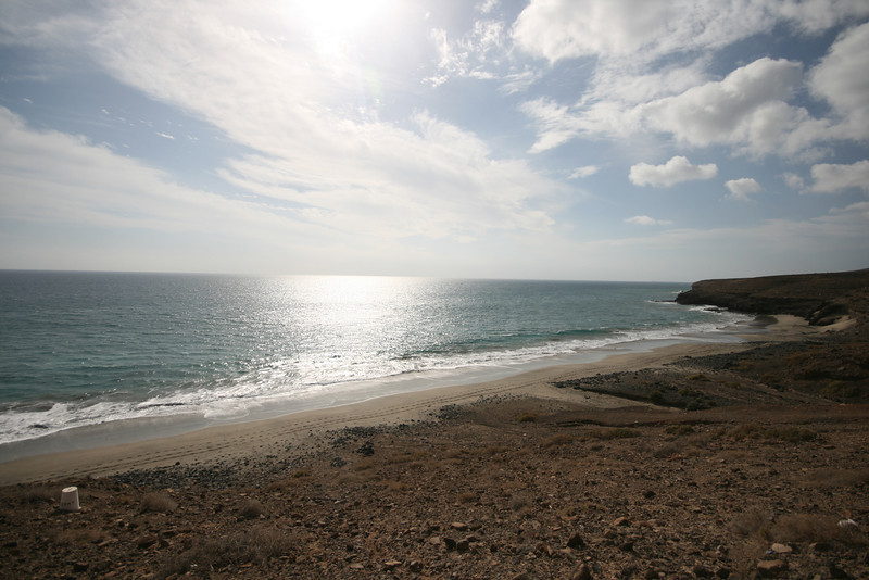 beach in the Canary Islands on the south side of the island of Fuertaventura