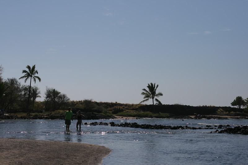 on the beach with ancient fish raising beds at Kaloko-Honokohau National Historic Park http://www.nps.gov/kaho/index.htm