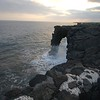 waves on the arch at Volcanoes National Park
