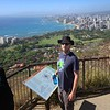 SkyTee and honolulu from the top of diamond head