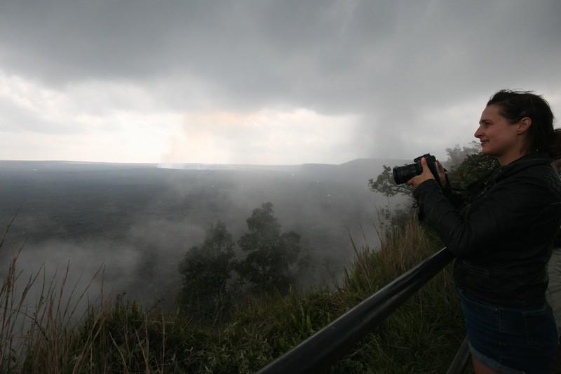 ellen and a volcano