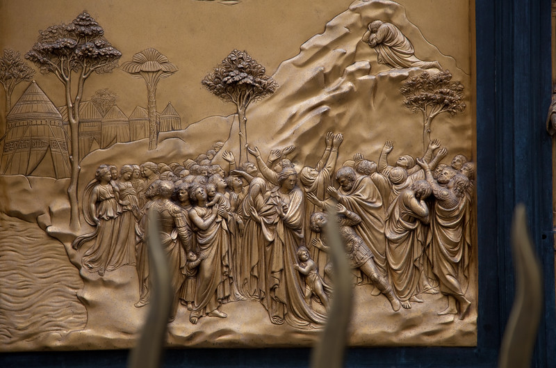 "Panel from Ghiberti's ""Gates of Paradise"""