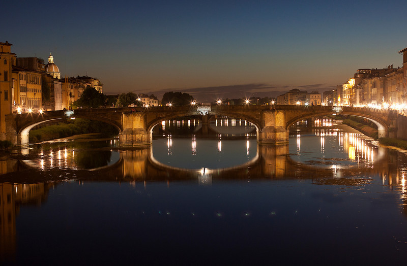 Nightime View of Ponte Santa Trinita, Florence