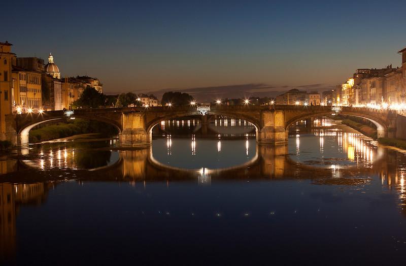 Nightime View of Ponte Santa Trinita, Florence