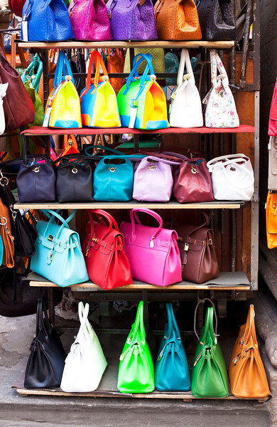 Handbags on Sale at Outdoor Market
