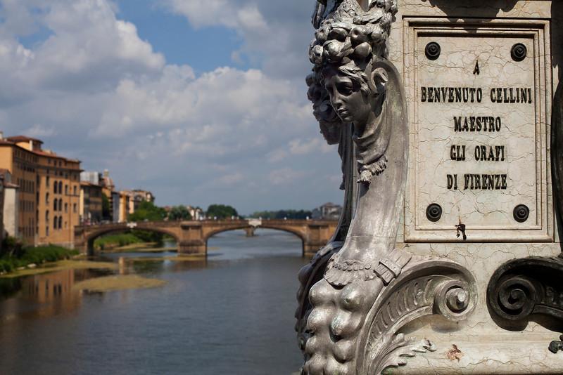 View of Ponte Santa Trinita from the Ponte Vecchio, Florence