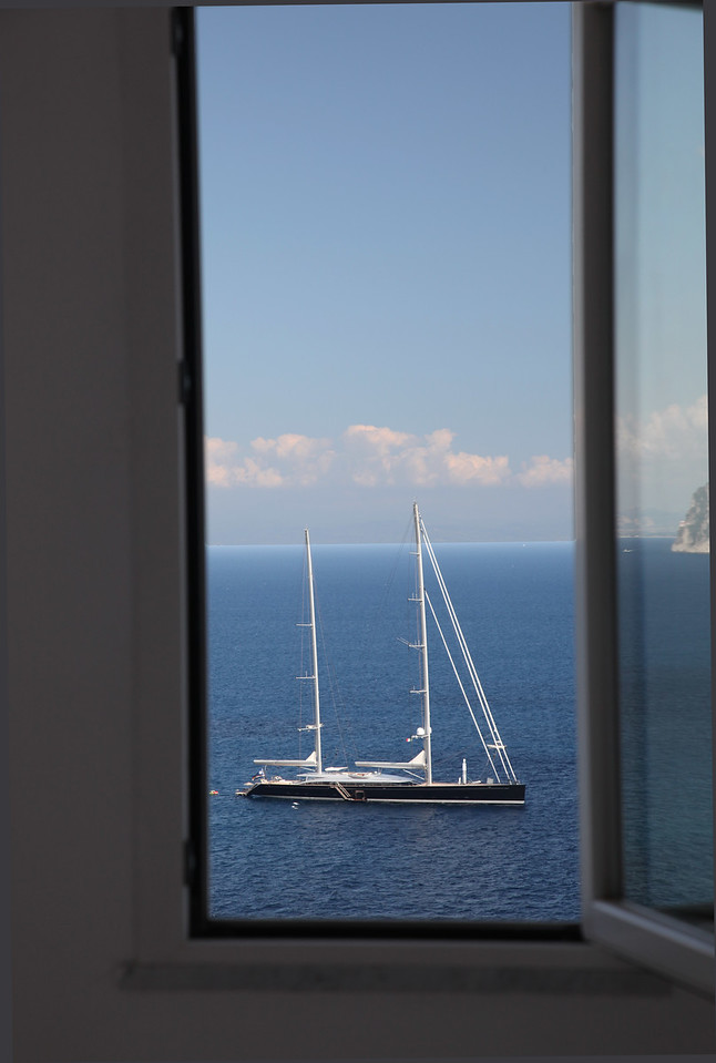 View from Room at Luna Convento, Amalfi