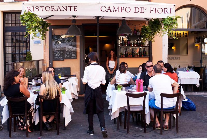 Cafe in Campo De' Fiore