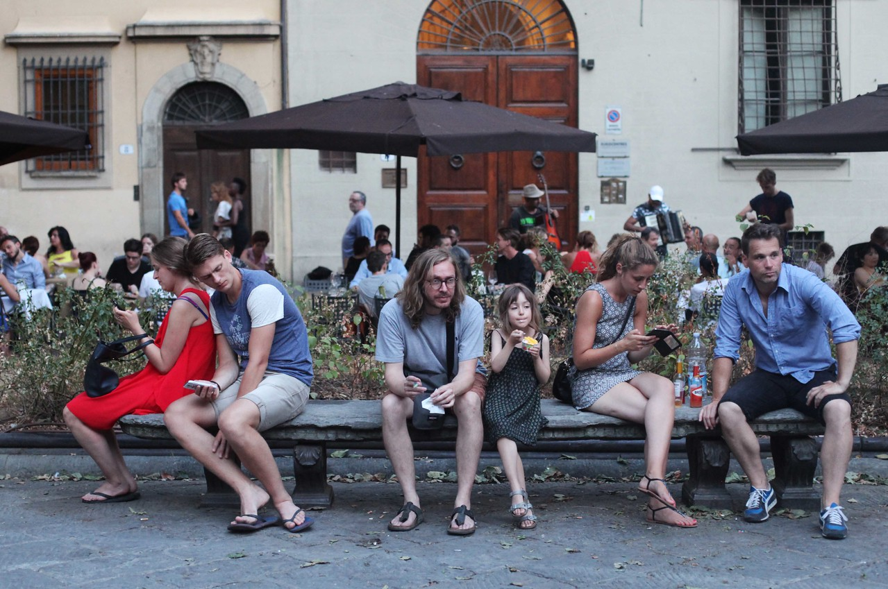 Hanging Out in Piazza Santo Spirito, Florence