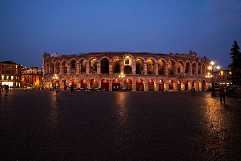 Verona Arena, built in 1st Century, one of best preserved ancient structures in Italy, held 30,000 people. Today has capacity for 15,000 people for opera performances and concerts. Will host closing ceremonies for 2026 Winter Olympics