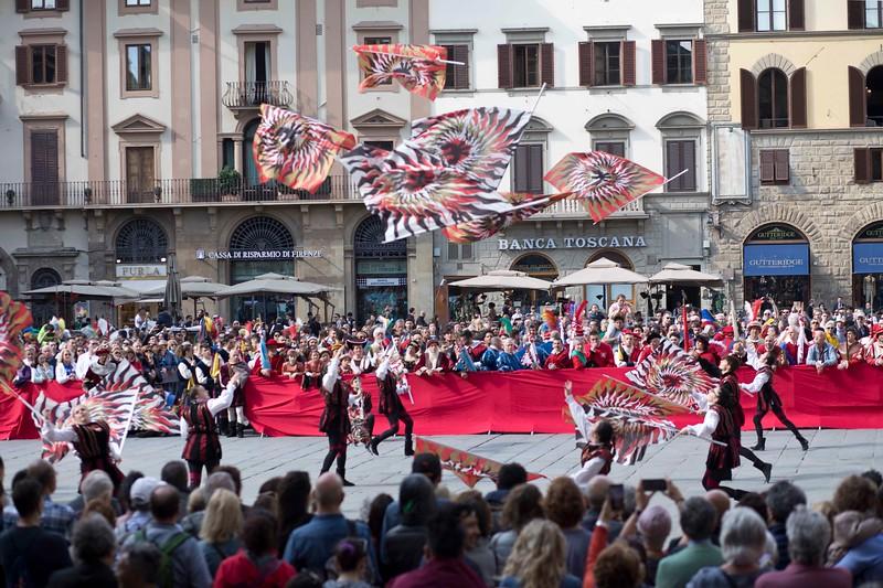 Flag Exhibition in Piazza della Signoria, Florence