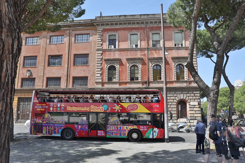 Tour Bus Near Circo Massimo