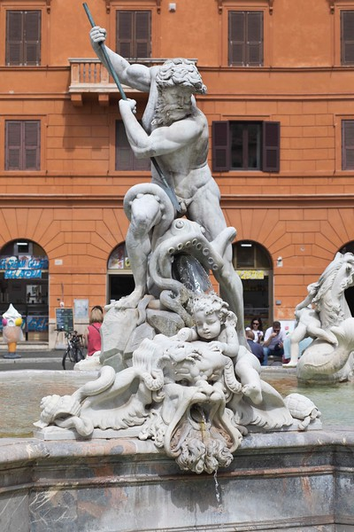 Neptune Sculpture in Piazza Navona