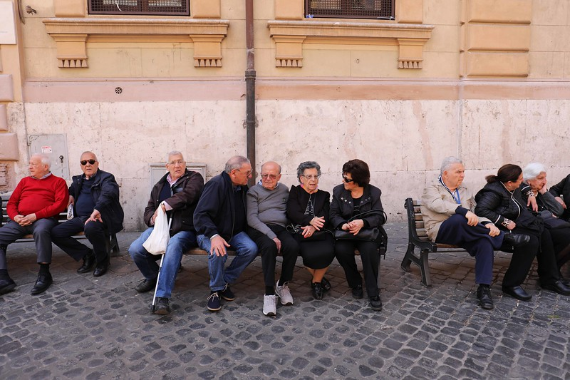 Socializing in the Jewish Quarter of Rome