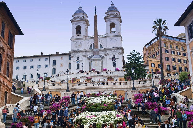 April Flower Display at Spanish Steps