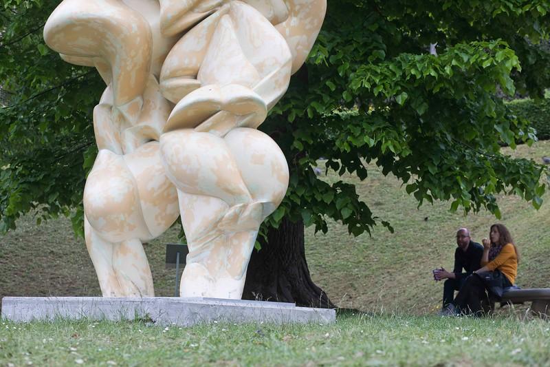 Admiring Tony Cragg Sculpture, Boboli Gardens