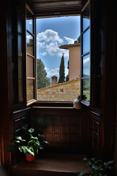 View from Dining Room at Hotel Il Tosco, Montepulciano, another Hill Town in Tuscany