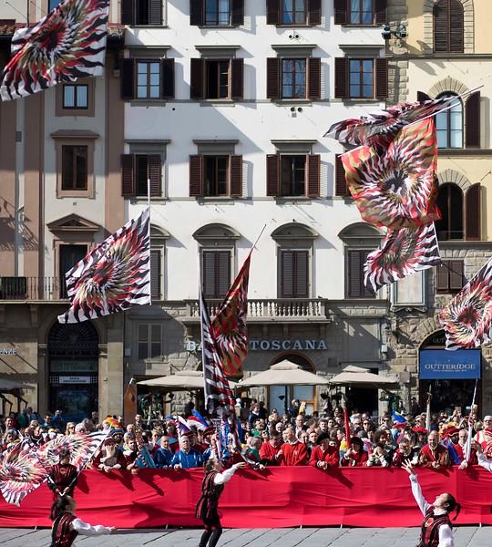Flag Tossing Exhibition at Piazza della Signoria