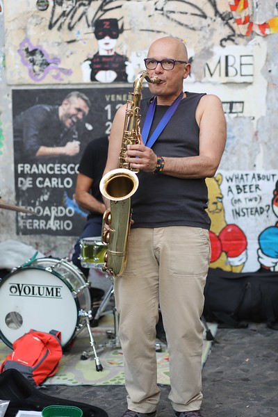 Great Jazz on the Sax at 6:00 p.m. in Trastevere