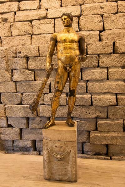 Gilded Bronze statue of Hercules, 2nd Century B.C., Capitoline Museum
