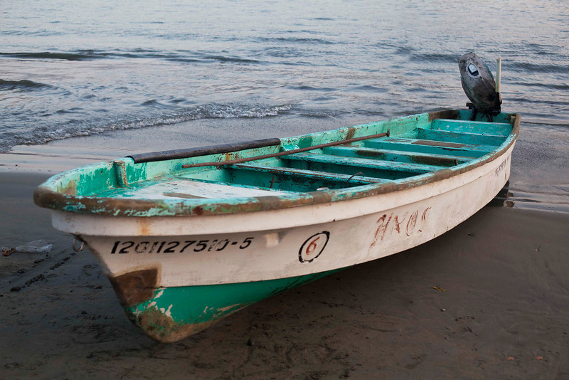 Fishing Boat on Zihuatanejo Beach