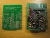 new bare pcb vs. the prototype board