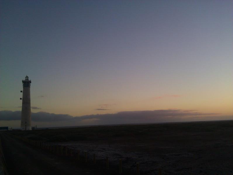 lighthouse on playa de jandia