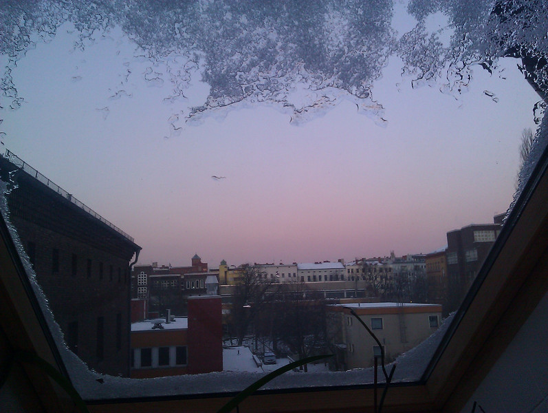 sunset framed by ice #berlin