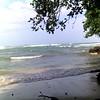 beach in front of surf spot Salsa Brava