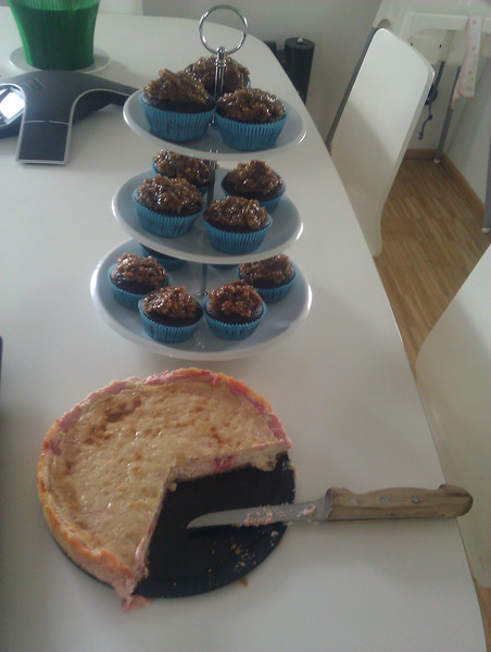 "vegan german chocolate cupcakes and vegan strawberry ""cheese""cake"