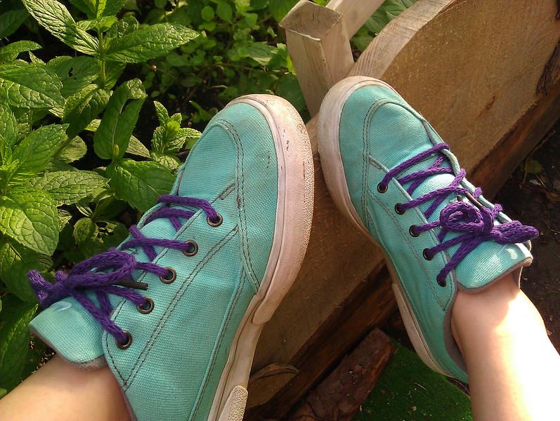 machine knit cashmere shoelaces