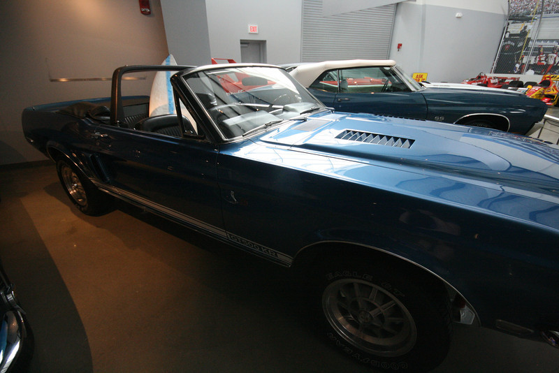 1968 Ford Shelby Mustang GT-500KR with a surfboard