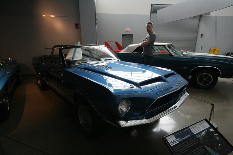 SkyTee looking at a 1968 Ford Shelby Mustang GT-500KR