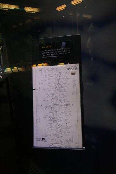 star chart used on Gemini IX
