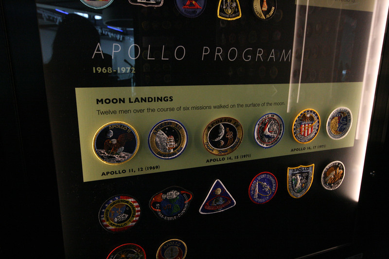 moon landing patches at Discovery Park of America in Union City, TN