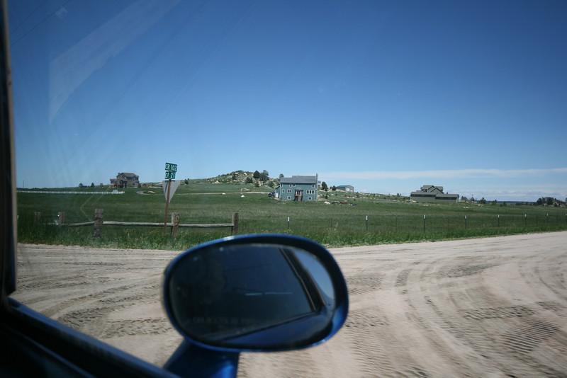 corner of dirt road and dirt road in Colorado