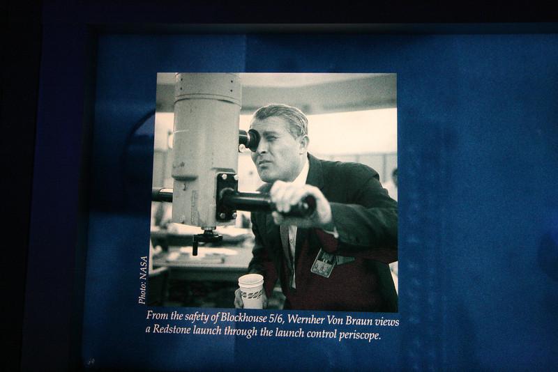Wernher von Braun with a coffee