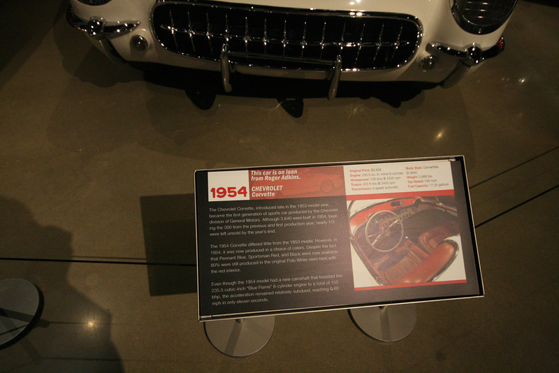 1954 corvette description