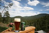 modus hoperandi, from Ska Brewing in Durango, Colorado, and the foothills of the rockies in Evergreen, Colorado in the background