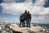 on top of Mt. Evans in Colorado with SkyTee and Mike Ossmann