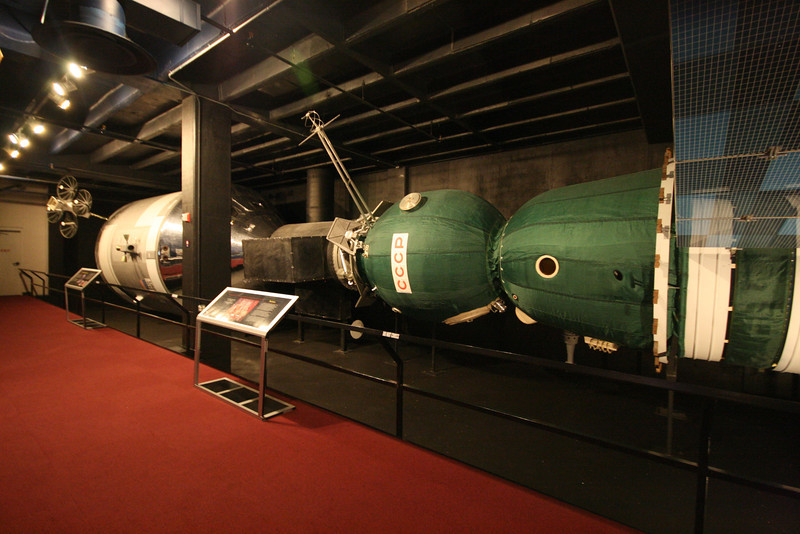 full sized mockup of the Apollo-Soyuz test project from 1975
