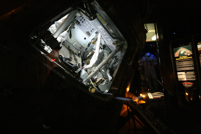 inside of restored actual apollo 13 command module