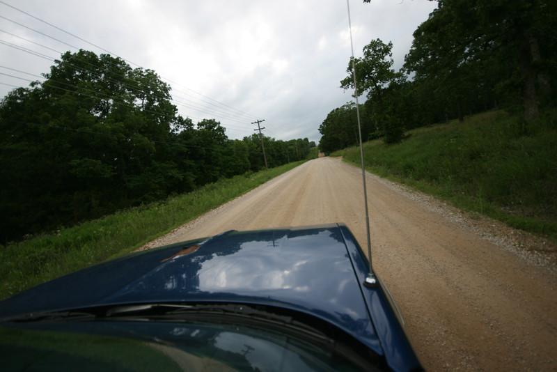 a dirt road in Missouri near Pomme de Terre lake, Missouri