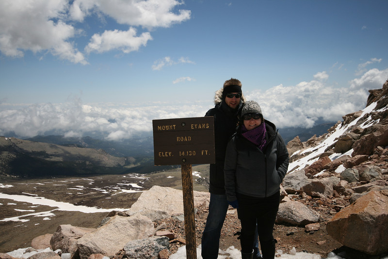 SkyTee and I up at Mt. Evans