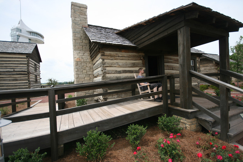 SkyTee on a porch at Discovery Park of America in Union City, TN