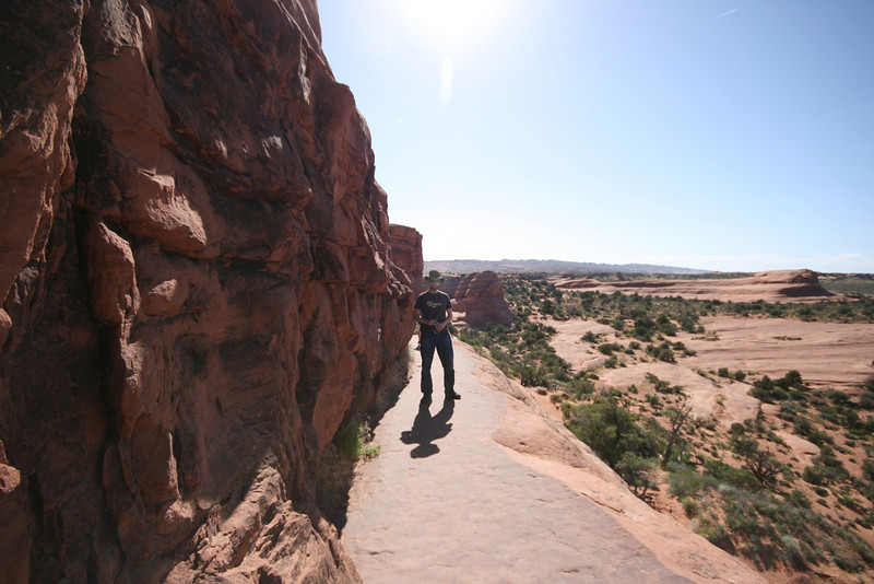 the climb up to Delicate Arch